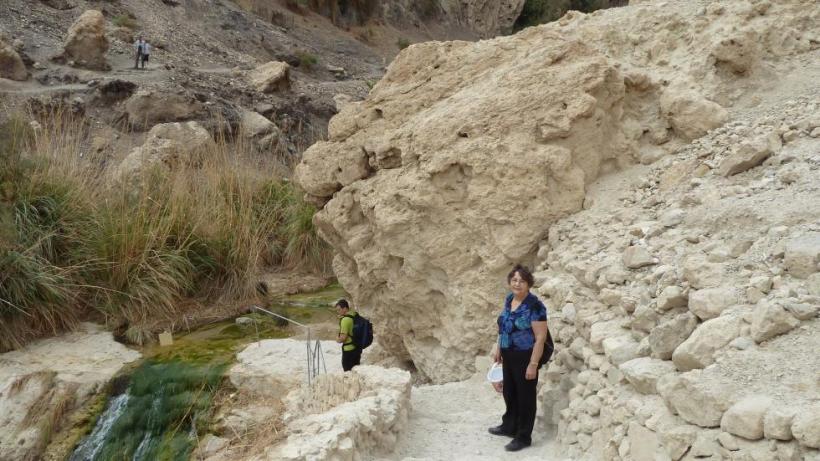 hiking in Wadi David, near Ein Gedi, 2015