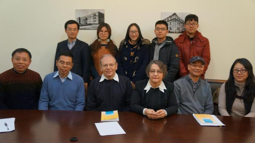 with the members of Writing Workshop at East China Normal Univeresity, Shanghai, January 2016